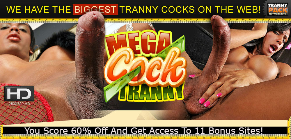Enjoy Mega Cock Tranny And 11 Bonus Sites!